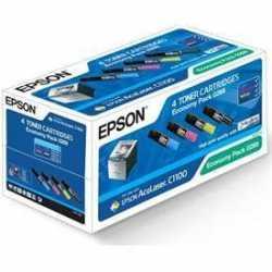 EPSON C1100 / CX11 SIFIR RENKLİ MUADİL TONER SETİ (çipli 4 adet toner)