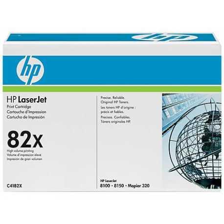 HP 82X Yüksek Kapasiteli Siyah Orijinal LaserJet Toner Kartuşu C4182X