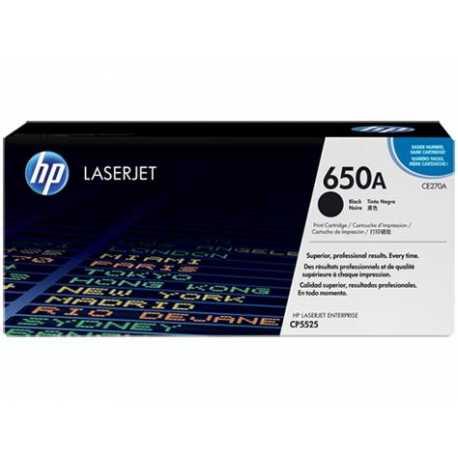 HP 650A Siyah Orijinal LaserJet Toner Kartuşu CE270A