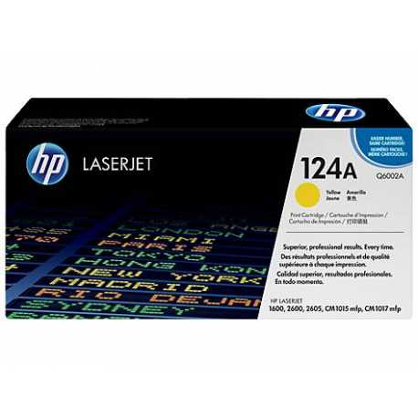 HP 124A Sarı Orijinal LaserJet Toner Kartuşu Q6002A