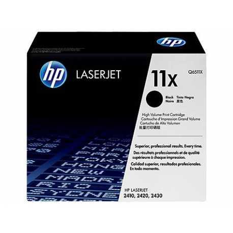 HP 11X Yüksek Kapasiteli Siyah Orijinal LaserJet Toner Kartuşu Q6511X