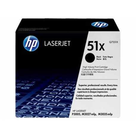 HP 51X Yüksek Kapasiteli Siyah Orijinal LaserJet Toner Kartuşu Q7551X