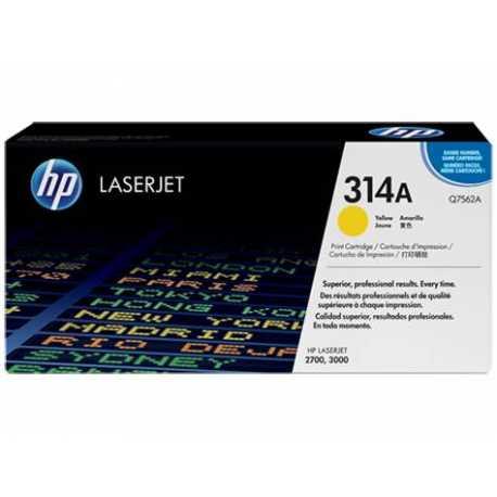 HP 314A Sarı Orijinal LaserJet Toner Kartuşu Q7562A