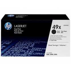 HP 49X 2'li Paket Yüksek Kapasiteli Siyah Orijinal LaserJet Toner Kartuşları Q5949XD