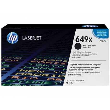 HP 649X Yüksek Kapasiteli Siyah Orijinal LaserJet Toner Kartuşu CE260X