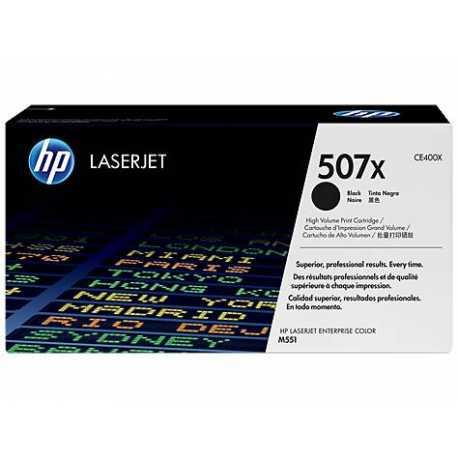 HP 507X Yüksek Kapasiteli Siyah Orijinal LaserJet Toner Kartuşu CE400X
