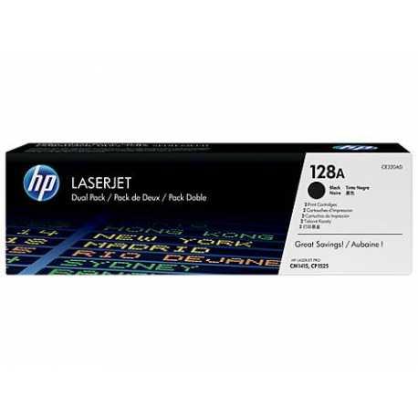 HP 128A 2'li Paket Siyah Orijinal LaserJet Toner Kartuşları CE320AD