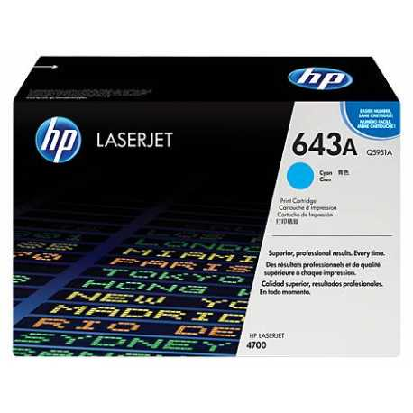HP 643A Mavi Orijinal LaserJet Toner Kartuşu Q5951A