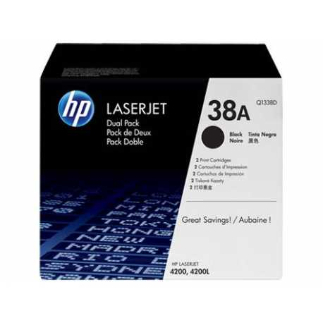 HP 38A 2'li Paket Siyah Orijinal LaserJet Toner Kartuşları Q1338D