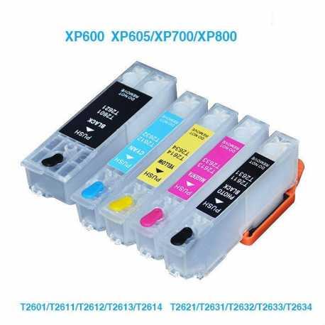 EPSON T26 (T2601/T2611-T2614) MUADİL KOLAY DOLAN KARTUŞ (OTO RESET ÇİPLİ 5 KARTUŞ)
