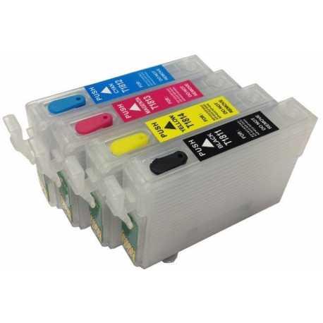 EPSON T18 (T1801 - T1804) MUADİL KOLAY DOLAN KARTUŞ (OTO RESET ÇİPLİ 4 KARTUŞ)