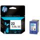 HP 22 SİYAH ORJİNAL KARTUŞ HP C9352A