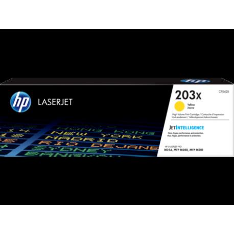 HP 203X Yüksek Kapasiteli Sarı Orijinal LaserJet Toner (CF542X)