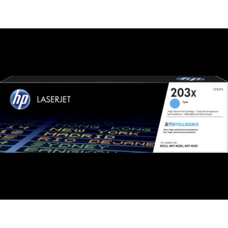 HP 203X Yüksek Kapasiteli Camgöbeği Orijinal LaserJet Toner (CF541X)