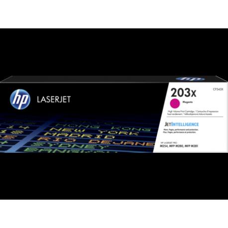 HP 203X Yüksek Kapasiteli Macenta Orijinal LaserJet Toner (CF543X)