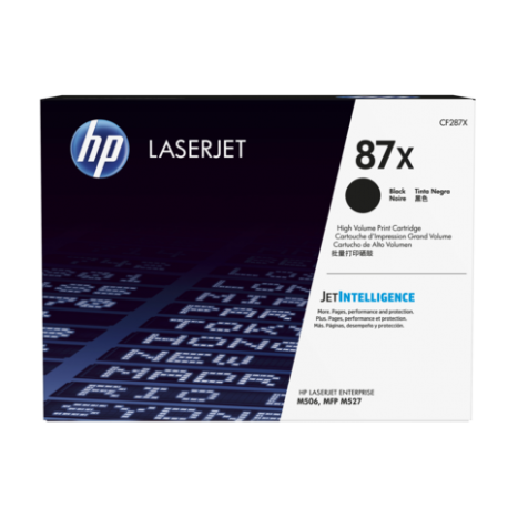 HP 87X Yüksek Kapasiteli Siyah Orijinal LaserJet Toner Kartuşu (CF287X)