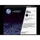 HP 81X Yüksek Kapasiteli Siyah Orijinal LaserJet Toner Kartuşu (CF281X)