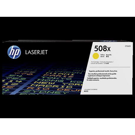 HP 508X Yüksek Kapasiteli Sarı Orijinal LaserJet Toner Kartuşu (CF362X)