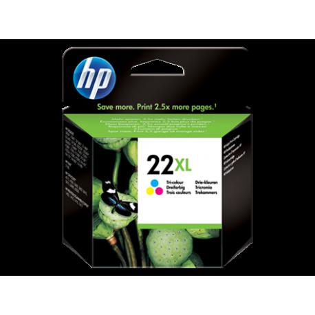 HP 22XL - C9352CE Yüksek Kapasiteli Üç Renkli Orijinal Mürekkep Kartuşu