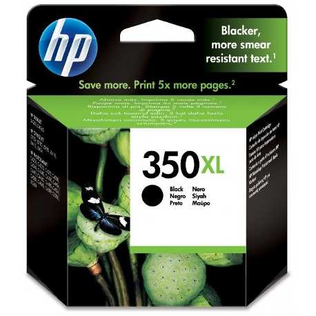 HP 350XL - CB336EE Yüksek Kapasiteli Siyah Orijinal Mürekkep Kartuşu