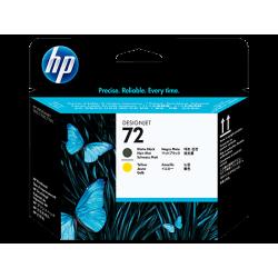 HP 72 - C9384A Mat Siyah ve Sarı DesignJet Orijinal Baskı Kafası