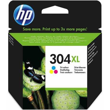 HP 304XL - N9K07AE Yüksek Kapasiteli Üç Renkli Orijinal Mürekkep Kartuşu