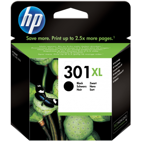 HP 301XL - CH563EE Yüksek Kapasiteli Siyah Orijinal Mürekkep Kartuşu