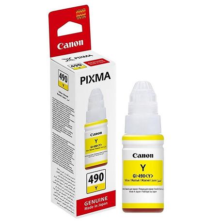 Canon GI-490Y Sarı Orijinal Mürekkep Şişesi (70ml) 0666C001- GI-490 Y