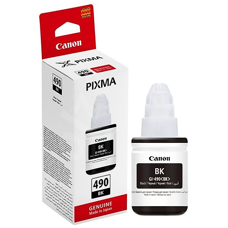 Canon GI-490BK Siyah Orijinal Mürekkep Şişesi (135ml) 0663C001- GI-490 Y