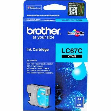 BROTHER LC67C Cyan Orijinal Mürekkep Kartuşu LC-67 C
