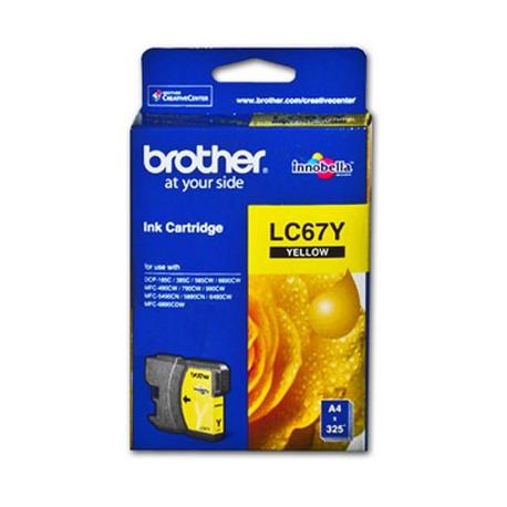 BROTHER LC67Y Sarı Orijinal Mürekkep Kartuşu LC-67 Y