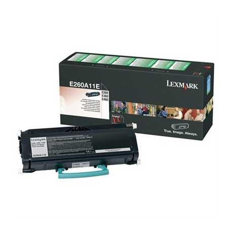 Lexmark E260 - E260A11E Siyah Orijinal Laser Toner Kartuşu