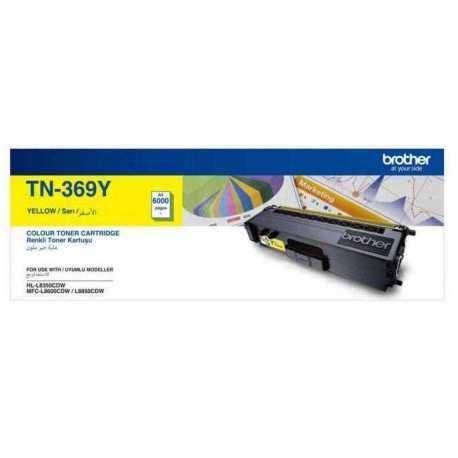 Brother TN-369Y Sarı Orjinal Laser Toner Kartuşu TN369Y