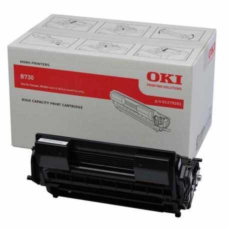 Oki 01279201 B730 BK Yüksek Kapasiteli Siyah Orijinal Laser Toner Kartuşu