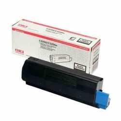 Oki 43034816 C3200 BK Siyah Orijinal Laser Toner Kartuşu