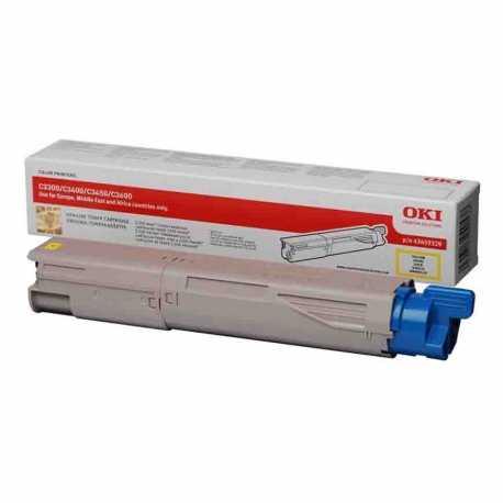 Oki 43459345 C3300 Y Sarı Yüksek Kapasiteli Orijinal Laser Toner Kartuşu