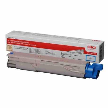 Oki 43459443 C3300 C Mavi Orijinal Laser Toner Kartuşu