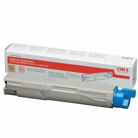 Oki 43459336 C3520 BK Siyah Orijinal Laser Toner Kartuşu
