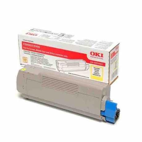 Oki 43324441 C5550 Y Sarı Orijinal Laser Toner Kartuşu