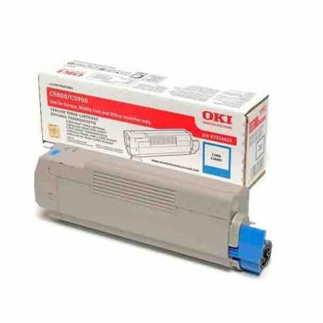 Oki 43324443 C5550 C Mavi Orijinal Laser Toner Kartuşu