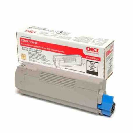 Oki 43324444 C5550 BK Siyah Orijinal Laser Toner Kartuşu