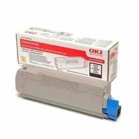 Oki 43324440 C5600 BK Siyah Orijinal Laser Toner Kartuşu