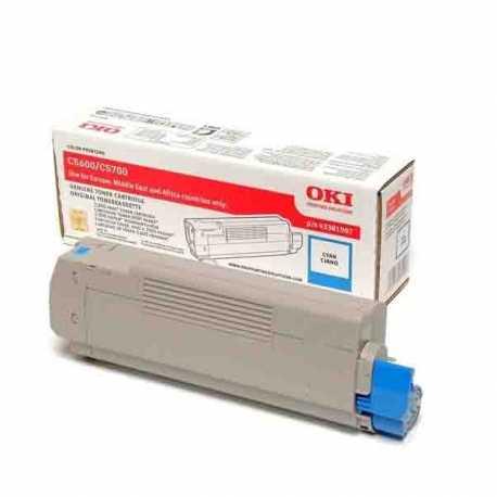 Oki 43381923 5600 C Mavi Orijinal Laser Toner Kartuşu