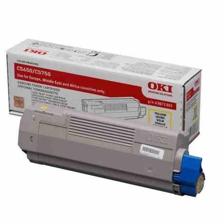 Oki 43872321 C5650 Y Sarı Orijinal Laser Toner Kartuşu