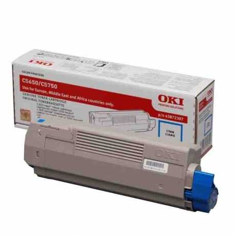 Oki 43872323 C5650 C Mavi Orijinal Laser Toner Kartuşu