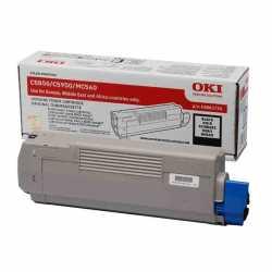 Oki 43865744 C5850 BK Siyah Orijinal Laser Toner Kartuşu