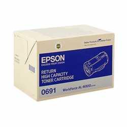 Epson AL-M300 BK Siyah Yüksek Kapasiteli Orjinal Toner Kartuşu C13S050691