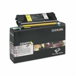 Lexmark C524 - C5240YH Y Sarı Yüksek Kapasiteli Orijinal Laser Toner Kartuşu