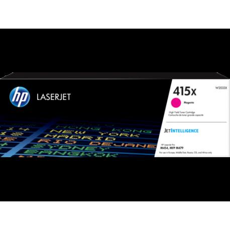HP 415X - W2033X Yüksek Kapasiteli Kırmızı / Magenta / Macenta Orijinal LaserJet Toner 415 X