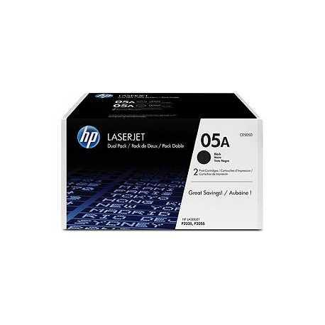 HP CE505D SİYAH ORİJİNAL SIFIR TONER DUAL PACK - ÇİFTLİ PAKET 05D